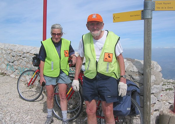 A recent ascent by bicycle of Mont Ventoux